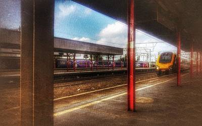Poster featuring the photograph Train Coming In by Isabella F Abbie Shores FRSA