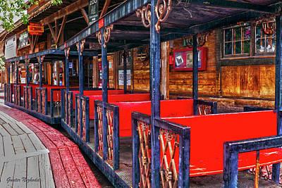 Train In Amusement Park Poster by Gunter Nezhoda