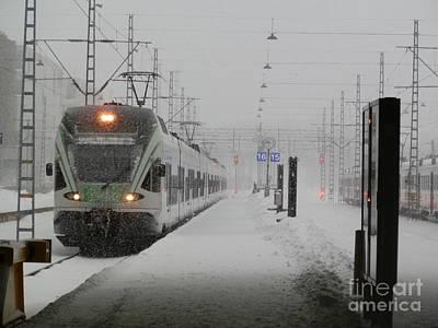 Train In Helsinki Poster