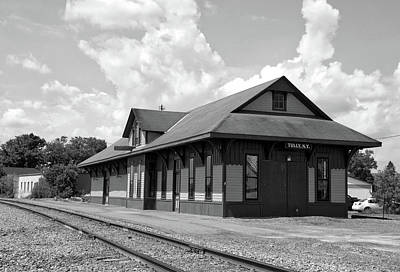 Train Station Tully New York Bw Poster by Thomas Woolworth