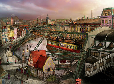 Train Station - Wuppertal Suspension Railway 1913 Poster by Mike Savad