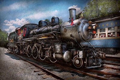 Train - Steam - 385 Fully Restored  Poster by Mike Savad