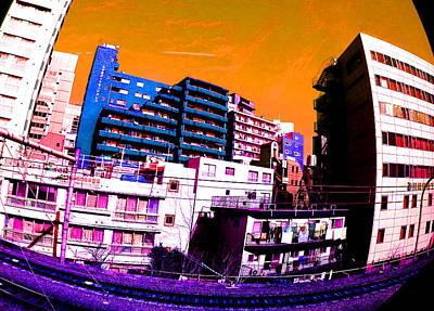 Train To Harajuku Tokyo Poster by Jera Sky