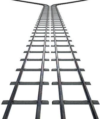 Train Tracks Isolated Poster by Allan Swart