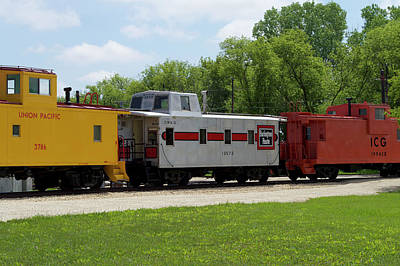 Trains Caboose 13572 Burlinton Route 01 Poster