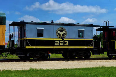 Trains Caboose 223 Beltway Of Chicago Poster