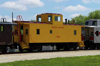 Trains Caboose 3786 Union Pacific Poster