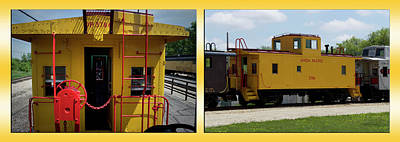 Trains Caboose 3786 Union Pacific Two Panel Poster