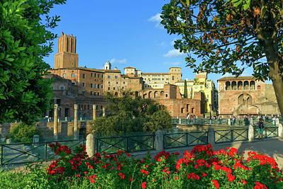 Trajan's Forum, Traiani, Roma, Italy Poster by Elenarts - Elena Duvernay photo