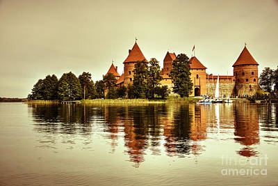 Trakai Castle  Poster by Rob Hawkins