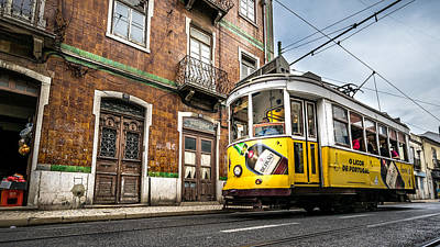 Tram 28 - Lisbon, Portugal - Travel Photography Poster by Giuseppe Milo