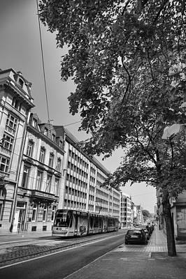 Tram In Brussels Poster