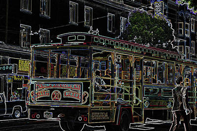 Tram In Sf Poster by Vijay Sharon Govender