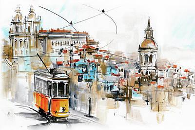 Tram Lisbon Graca Sao Vicente Poster