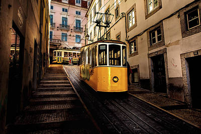 Trams Poster by Jorge Maia