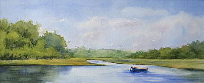 Poster featuring the painting Tranquil Afternoon by Vikki Bouffard