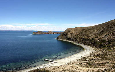 Tranquil Bay On Lake Titicaca Poster
