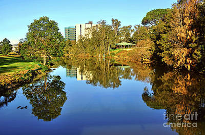 Poster featuring the photograph Tranquil River By Kaye Menner by Kaye Menner