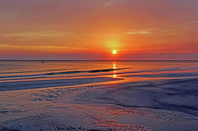 Poster featuring the photograph Tranquility - Florida Sunset by HH Photography of Florida