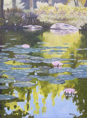 Poster featuring the painting Tranquility IIi Furman University by Robert Decker