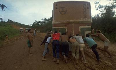 Trans Amazonian Highway, Brazil Poster