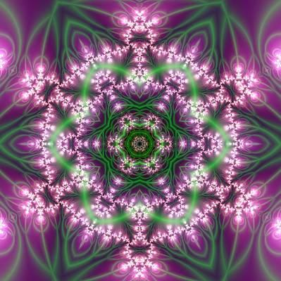 Poster featuring the digital art Transition Flower 6 Beats 4 by Robert Thalmeier