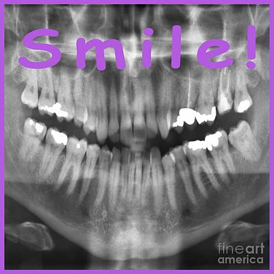 Transparent Panoramic Dental X-ray With A Smile Poster by Ilan Rosen