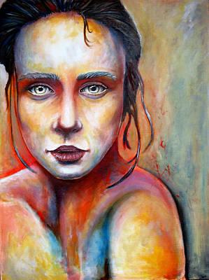 Transperernt Girl Poster by Ole Hedeager Mejlvang