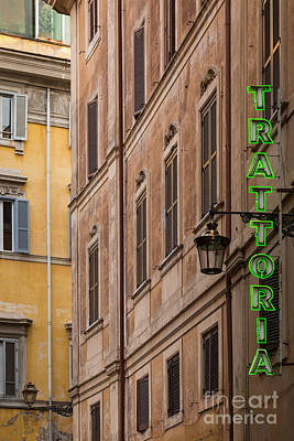 Trattoria - Rome Poster by Richard Thomas