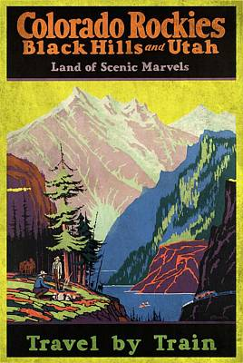 Travel By Train To Colorado Rockies - Vintage Poster Vintagelized Poster