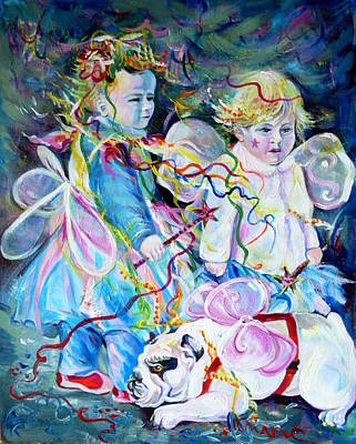 Travel Notebook. Nice Carnival. Fairies Poster by Anna  Duyunova