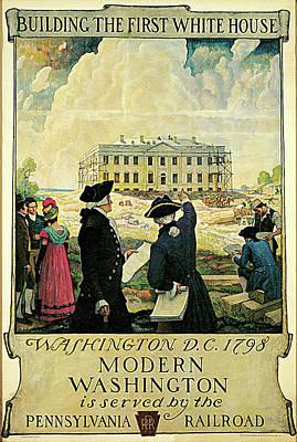The Keystone, Pennsylvania Railroad Poster by N C Wyeth