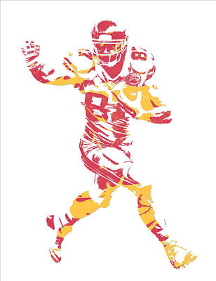Travis Kelce Kansas City Chiefs Pixel Art 6 Poster