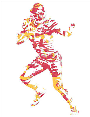 Travis Kelce Kansas City Chiefs Pixel Art 7 Poster