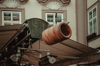 Poster featuring the photograph Trdelnik. Prague Architecture by Jenny Rainbow
