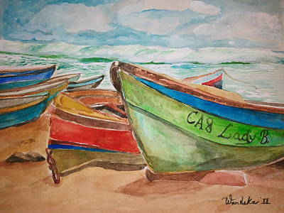 Treasure Beach Boat Poster by Wandeka Gayle