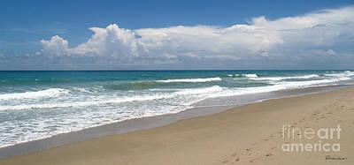 Treasure Coast Beach Florida Seascape C4 Poster
