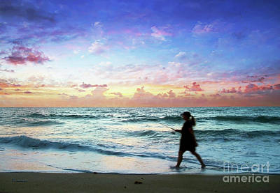 Treasure Coast Florida Seascape Dawn D6 Poster