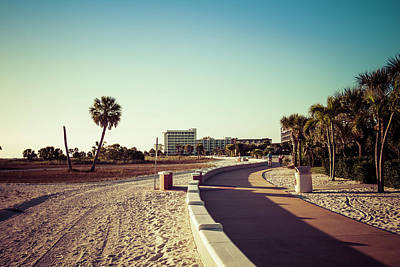 Poster featuring the photograph Treasure Island Beach Trail by Joel Witmeyer