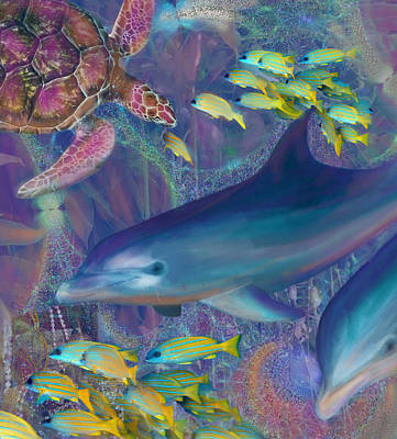 Treasures Of The Caribbean Poster by Julianne Ososke