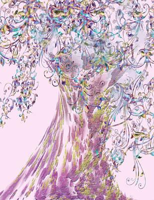 Poster featuring the digital art Tree Fancy by Katy Breen