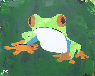 Poster featuring the painting Tree Frog by Candace Shrope