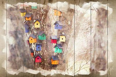 Tree Houses - Decorative Wood Panel Art Poster