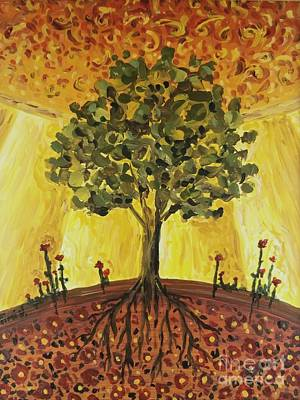 Poster featuring the painting Tree Of Life by Maria Langgle