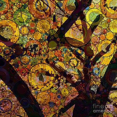 Poster featuring the digital art Tree Of Prosperity by Klara Acel