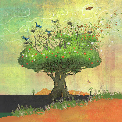 Tree Of Seasons Poster by Dennis Wunsch