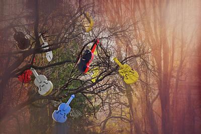 Tree Of Violins In Vienna  Poster