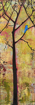 Tree Print Triptych Section 2 Poster by Blenda Studio