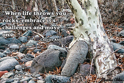 Tree With Quote Poster by Charles Ables