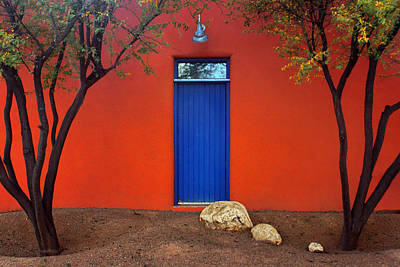 Trees And Door - Barrio Historico - Tucson Poster by Nikolyn McDonald